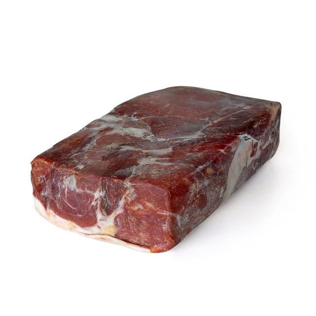 Simple Block Of Cured Ham Or Serrano Ham